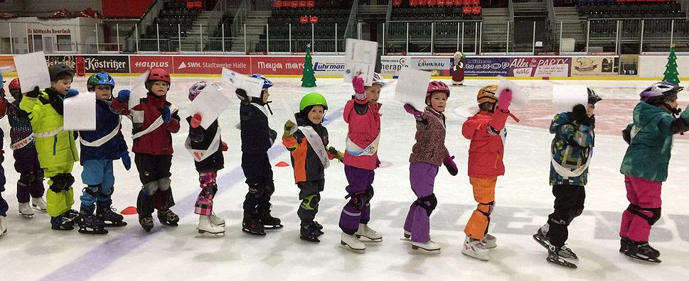 Kita-Eislaufschule: Abschlussfest Kita Dorothea Erxleben